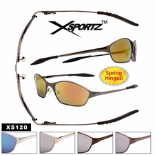 Mens Sport Sunglasses Wholesale - Style #XS120 Spring Hinge (Assorted