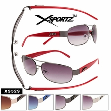 Mens Xsportz� Sunglasses Wholesale - Style # XS529 (Assorted Colors)