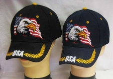 Wholesale Bulk Hats Military Fashion - Eagle Flag Hats Wholesale - CAP677