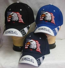 Wholesale Caps, Wholesale Hats, Patriotic - USA Hats Wholesale - CAP679 Eagle Flag