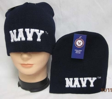 Military Caps Hats, Wholesale Military Caps Hats - Beanies - WIN602D Navy Beanie