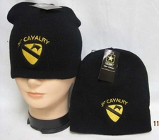 Wholesale Caps, Wholesale Hats, Military - Beanie Hats Military Suppliers Bulk - WIN779 1st Cavalry Beanie