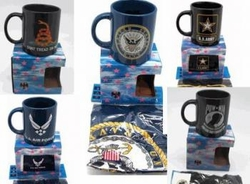 Wholesalers Licensed Products - MILITARY MUG FLAG 72.00 case