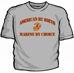 Military T Shirts Bulk Wholesale - American By Birth Marine By Choice T-Shirt