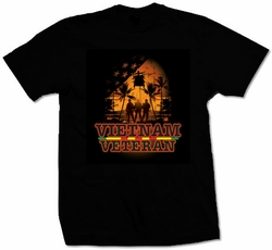 Military T Shirts Bulk Wholesale - Vietnam Veteran Black T-Shirt