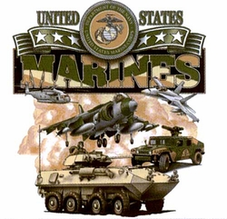 Screen Printed Marines Military T Shirts, Wholesale Bulk Suppliers - A21148 US Marinres