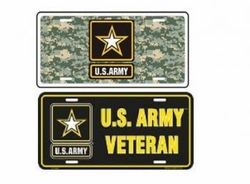 Military Wholesale LICENSE PLATE Suppliers - ARMY METAL LICENSE PLATE 48.00 case
