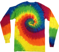 Clothing T Shirts Tie Dye Long Sleeve Wholesale Suppliers - MOONDANCE