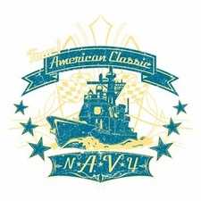 Wholesale Military T Shirts Hats, Navy American Classic - a12158d