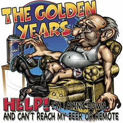 Wholesale Funny T Shirts - Golden Years T-Shirts & Shirt Designs - P-2070