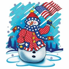 Wholesale T Shirts Hats, Military Tee Shirts, Patriotic Snowman - a10646g