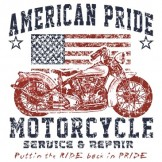 Patriotic T Shirts Wholesale - a5283g american pride motorcycle