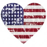 Patriotic T Shirts Wholesale - a8416f heart flag