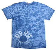 Wholesale Tie Dye Print T-Shirts - PAW BABY BLUE