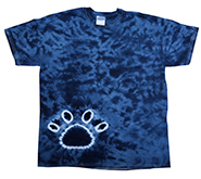 Wholesale Tie Dye Print T-Shirts - PAW NAVY