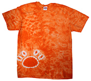 Wholesale Tie Dye Print T-Shirts - PAW ORANGE