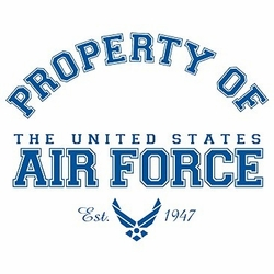 Wholesale T Shirts Hats, Military Tee Shirts, Property Of Air Force - a12282a
