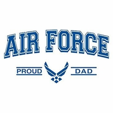Wholesale Clothing Apparel Military T-Shirts Bulk Supplier - Proud Air Force Dad a12300d