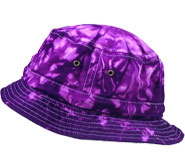 Wholesale Tie Dye Bucket Fishing Hats - Purple