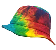 Wholesale Tie Dye Print Hats Fishing - reactive rainbow