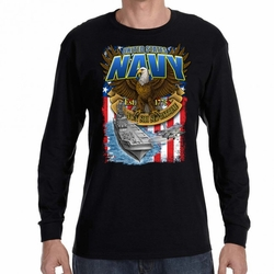 Wholesale, Navy, Military T Shirts Navy Carrier Wholesale,  - 22301 long sleeve black