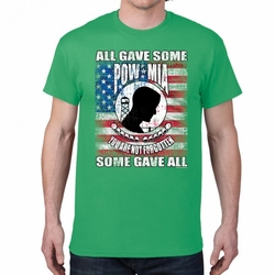 POW MIA T Shirts Wholesale - 21338 short sleeve green