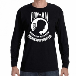 Wholesale, POW MIA, Military T Shirts  23511 long sleeve black