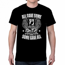 Screen Printed Military T Shirts Some Give All 21339 short sleeve black