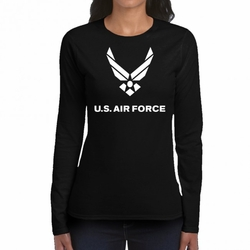 Air Force T-Shirts Wholesale - 22009 long sleeve black