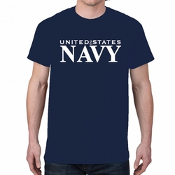 Screen Printed Military T Shirts - US Navy Heat Transfer 22257 short sleeve navy blue
