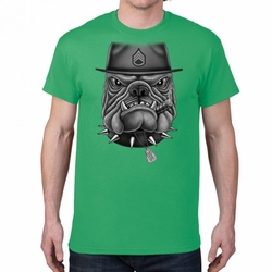 Screen Printed Military T Shirts Bulk - Sergeant 22159 short sleeve green