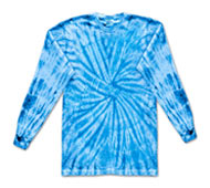 Clothing T Shirts Tie Dye Long Sleeve Wholesale Suppliers - SPIDER BABY BLUE