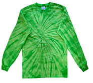 Clothing T Shirts Tie Dye Long Sleeve Wholesale Suppliers - SPIDER LIME