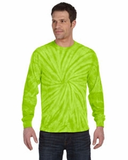 Wholesale Tie Dye Long Sleeve T-Shirts - SPIDER LIME
