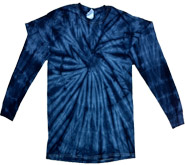 Clothing T Shirts Tie Dye Long Sleeve Wholesale Suppliers - SPIDER NAVY