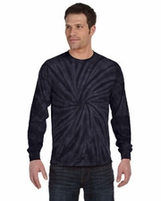 Wholesale Tie Dye T Shirts Long Sleeve - SPIDER NAVY