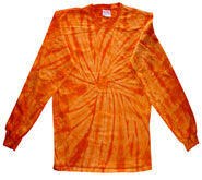 Clothing T Shirts Tie Dye Long Sleeve Wholesale Suppliers - SPIDER ORANGE