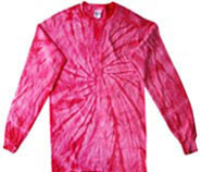 Clothing T Shirts Tie Dye Long Sleeve Wholesale Suppliers - SPIDER PINK