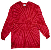 Clothing T Shirts Tie Dye Long Sleeve Wholesale Suppliers - SPIDER RED