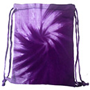 Wholesale Tie Dye Sport Bags - SPIRAL PURPLE