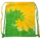 Wholesale Tie Dye Sport Bags - SPIRAL YELLOW LIME