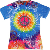 Sublimation Tie Dye T Shirts Ladies Wholesale - 1555-616-S