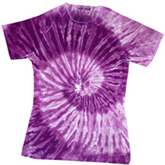 Sublimation Tie Dye T Shirts Ladies Wholesale - 1555-675-S