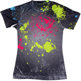 Sublimation Tie Dye T Shirts Ladies Wholesale - 1555-676-S