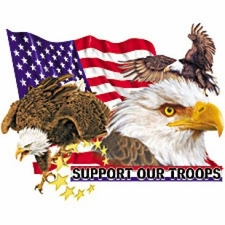 Bulk T Shirts Military Fashion - Wholesale - Military T Shirts - Military Support Our Troops-Eagle Wholesale Bulk T Shirts -  p-211 a1245e