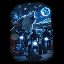 Patriotic Wholesale T-Shirts Suppliers - WOLF RIDE  20486D0-1