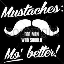 Wholesale Bulk T Shirts Funny Fashion - Wholesale Funny Graphic T Shirts  Discount Bulk - 13x12-mustaches-men-who-mo-better-white-ink