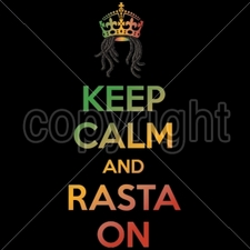 Wholesale Bulk T Shirts Funny Fashion - Wholesale - Funny T Shirts - 16263-6x14-keep-calm-rasta