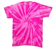 Wholesale - Tie Dye T Shirts - Clothing Bulk - NEON BUBBLEGUM