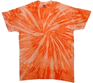 Wholesale - Tie Dye T Shirts - Tie Dye T-Shirts, Wholesale Bulk - NEON ORANGE